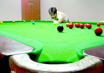 Enjoy with Snooker.