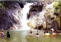 """Tone-Pariwat"" Waterfall, where you can swim"