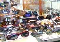 A wide selection of eye glasses flames