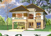 A detached two-story house 63 sq.wah