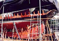 Our professional in wood work for boat