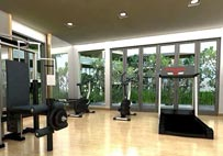 Fitness center available here…